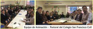 Equipo de aNIMACIÓN Pastoral del Colegio SAN FRACNISCO cOLL